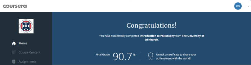 Coursera_Edinburgh_Introduction to Philosophy